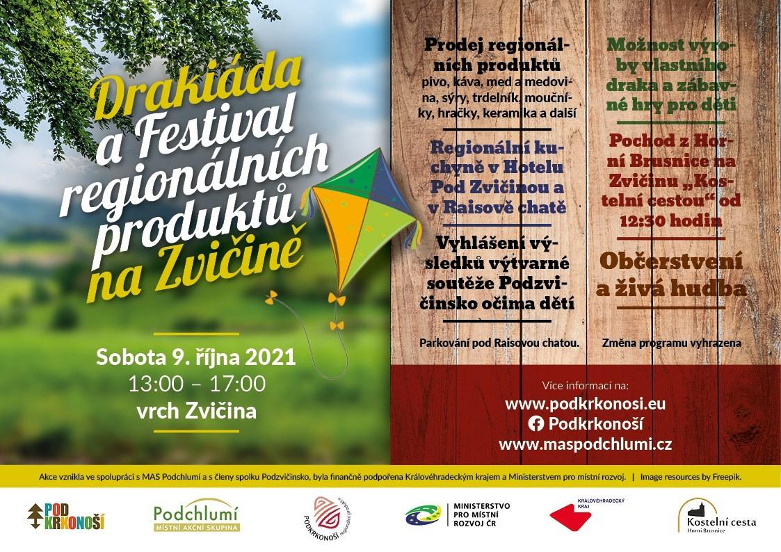 Drakiáda a Festival regionálních produktů na Zvičině